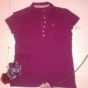 Aeropostale Purple Pink  Short Sleeve Polo
